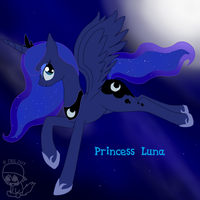 Princess Luna by CaffeineCoated