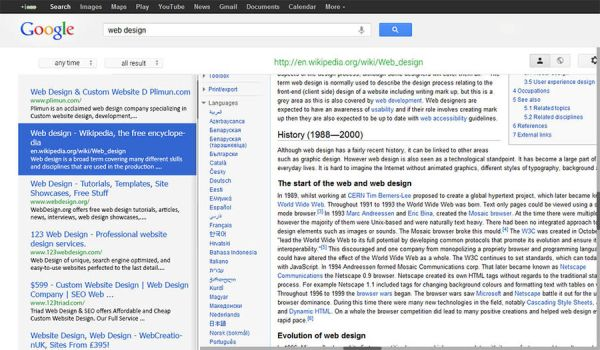 fast browsing google search result by aglash