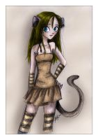 Cat Girl - Color by evilspoon
