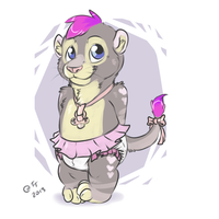 Sienna the pink cutie lion cub by gamemaster19863
