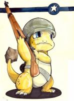 Charmander with M1 Garand by LuckyPupa