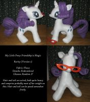 MLP - Rarity Plush V.1 by anruiukimi