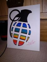 Grenade Canvas by fionachitauro