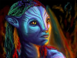 Beautiful Neytiri by RobinPenson