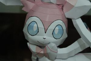 Sylveon Face ^^ by KokoroPapercraft