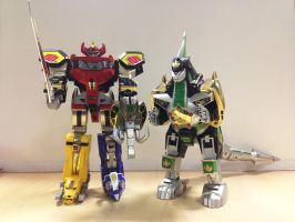 MMPR - Legacy Dino Megazord and Dragonzord! by ryanthescooterguy