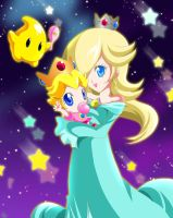 ROSALINA + BABY PEACH by KagomesArrow77