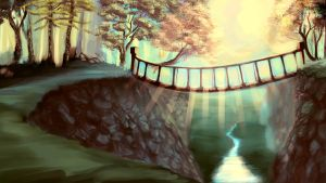 Sunlit Bridge work in progress by Arafelle