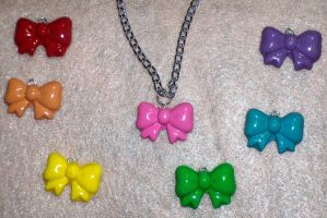 Cute Bow Necklace by TashaAkaTachi