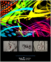 JuSt Be YouRseLf journal skin by airamneleb
