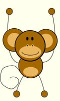 cartoon monkey by BabyRuca