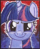 Twilight Sparkle creepy face by Pwnyville