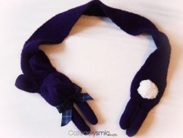 Purple Bunny Scarf Commission by Cateaclysmic