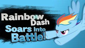 Rainbow Dash Soars Into Battle! by Broxome