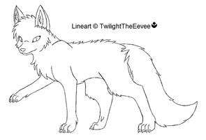 Wolf template by TwilightTheEevee