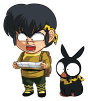 Ranma Set 2: Ryoga and P-Chan by cosplayscramble