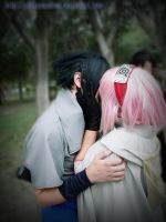 Sasusaku kiss cosplay by UchihasasukeMS