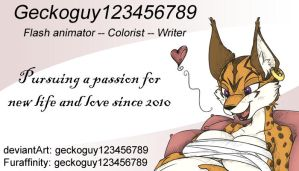 Business card 2014 by geckoguy123456789