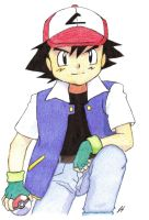 Ash Ketchum Colored by trad-HP-rocks