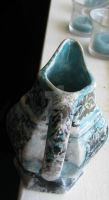 Ceramic fired vintage hand painted creamer by SomethingTeal
