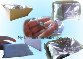 My bed box for baby dragon by HeroHeart001
