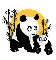 Pandas - Father and Son by Adamzworld