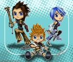 KH: Birth By Sleep - Chibies by Menanie605