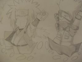 Kakashi and jiraiya by meDz-anispireD