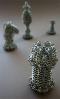 Chainmail Chess Set - Rook by HeruFeanor