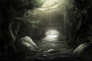PhotoShop Sketch -- The Cave by king-worm