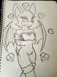 Rouge the Bat Sketch by rainbowthefox