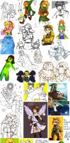 mostly brawl and zelda by likeasurgeon