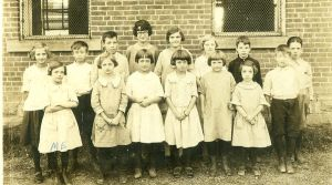 Antique Snapshot School Kids by waldronsullenger