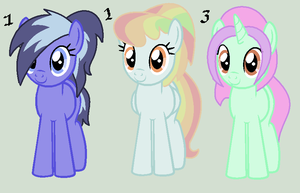 Three Little Ponies Auction by MonkFishyAdopts
