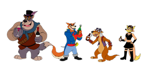 Commission - Talespin Pirates by BennytheBeast
