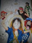 one piece (unfinshed) by MadMadMee