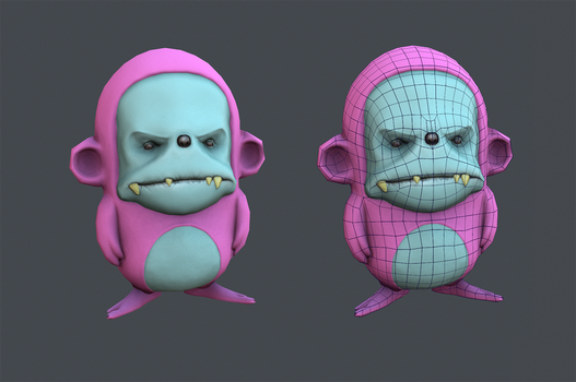 Low poly dude for Uni by DekuBackPack