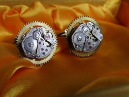 Steampunk Cufflinks IV by Hiddendemon-666