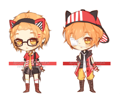 Adoptable:| TWINS [CLOSED] by KyunSHOP