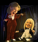 Hillary's Gretchen Carlson puppet by gimmy1203