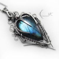 LUQTURH - silver and labradorite by LUNARIEEN