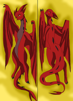 Smaug Body pillow by HeroHeart001