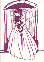 Purple Victorian with Cat by NevynS
