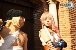 Lightning and Snow Cosplay by Shady-Chan