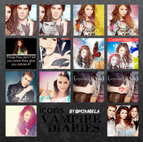 Icons Vampire Diaries by Mikabells