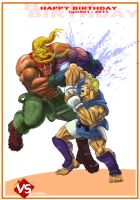 Abel VS Alex - Street Fighter 3.5 by FanWrks