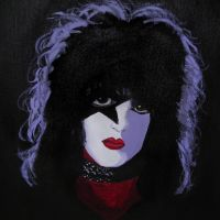 Paul Stanley on canvas by chibi-reki-earth