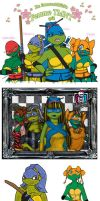 Femme Turtles Quilt by luckycyberbunny