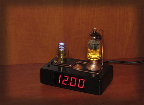 Vacuum tube clock VT-3 by DoctorAlbert