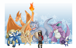 My Pokemon Y Battling Team :D by ZiiaChan